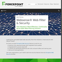 Websense® Web Filter & Security