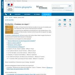 Websérie : Comme en 1940 !-Histoire-géographie-Éduscol