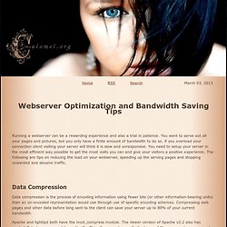 Webserver Optimization and Bandwidth Saving Tips