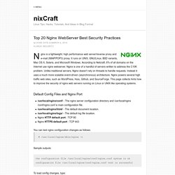 Top 20 Nginx WebServer Best Security Practices