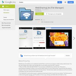 WebSharingLite File/Media Sync - Android Market