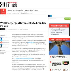 WebSharper platform seeks to broaden F# use
