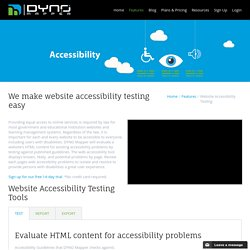 Website Accessibility Testing