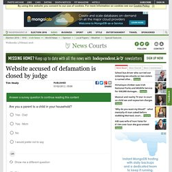 Website accused of defamation is closed by judge - Courts, National News