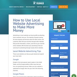 Local Website Advertising - Local Business Online Advertising