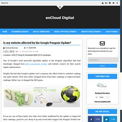 Is my website affected by the Google Penguin Update? - Digital enCloud