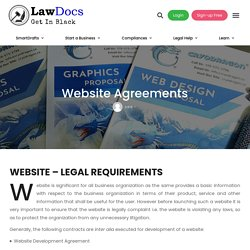 Website Agreements - Lawdocs.in