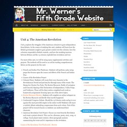 Mr. Werner's Fifth Grade Website!