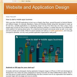 Website and Application Design: How to start a mobile apps business