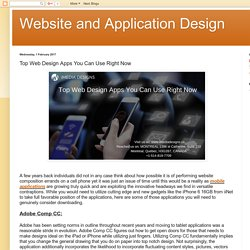 Website and Application Design: Top Web Design Apps You Can Use Right Now