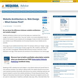 Website Architecture vs. Web Design - What Comes First?