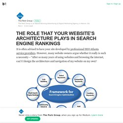 THE ROLE THAT YOUR WEBSITE'S ARCHITECTURE PLAYS IN SEARCH ENGINE RANKINGS