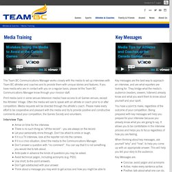 Team BC Website > Athletes & Coaches > Media Training