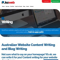 Website Content Writing for Australian Websites