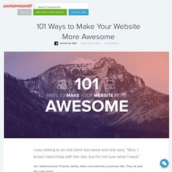 101 Ways to Make Your Website More Awesome · AwesomeWeb