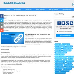 Top Website List For Backlink Checker Tools-2016