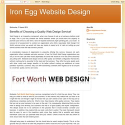 Benefits of Choosing a Quality Web Design Service!