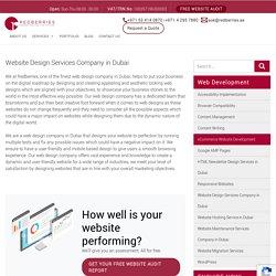 Website Design Services Company in Dubai
