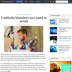 3 website blunders you need to avoid