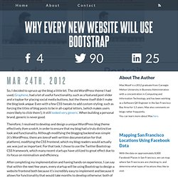 Why Every New Website Will Use Bootstrap | minimaxir