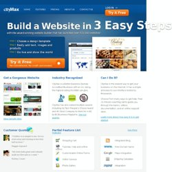 CityMax - The Original All-In-One Website Builder - Home