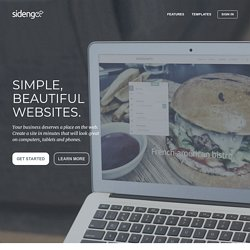 Website Builder - Embed into Facebook and blogs - Sidengo