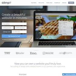 Website Builder - Create a website in minutes - Sidengo