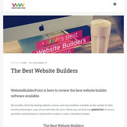 The Best Website Builders - 2015 Comparison List