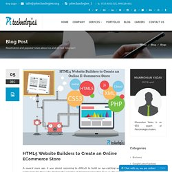 HTML5 Website Builders to Create an Online ECommerce Store