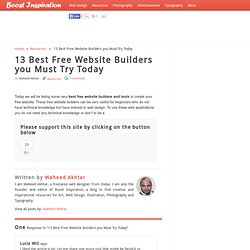 Best Free Website Builders you Must Try Today