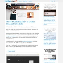 The Best Website Builders to Create a Clean Online Portfolio