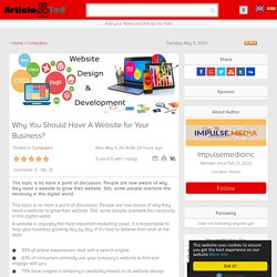Why You Should Have A Website for Your Business? Article