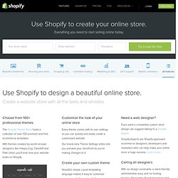Create a Website - Make a business website with Shopify - Free Trial