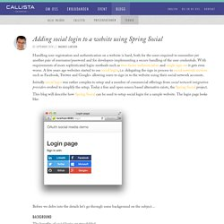 Adding social login to a website using Spring Social