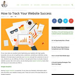 How to Track Your Website Success - Ade Camilleri Marketing News