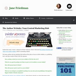 The Author Website: Your Central Marketing Hub