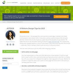 8 Website Design Tips for 2013 | Command Partners