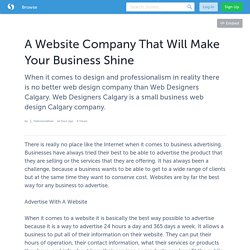 A Website Company That Will Make Your Business Shine