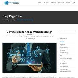 8 Principles for good Website design