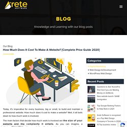 Website Price: What it costs to plan, design and build a custom website