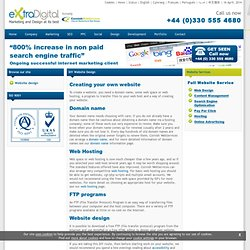 DIY Website design UK - advice on designing your own website