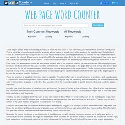 Website Page Word Counter - WordCounter.net