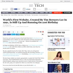 World's First Website, Created By Tim Berners-Lee In 1991, Is Still Up And Running On 21st Birthday