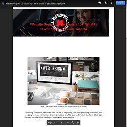 Website Design for Car Dealers 101: What It Takes to Be Successful Early On