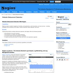 Website Defacement Detection - Nagios