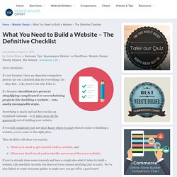 What You Need to Build a Website - The Definitive Checklist