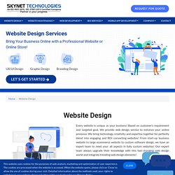 Give Website a Life with UI/UX Web Design - Skynet Technologies