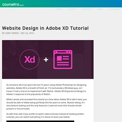 Website Design in Adobe XD Tutorial