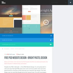Free PSD Website Design - Bright Pastel Design