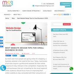Best Website Design Tips for Small Business in 2020